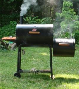 Offset Smoker With Side Firebox