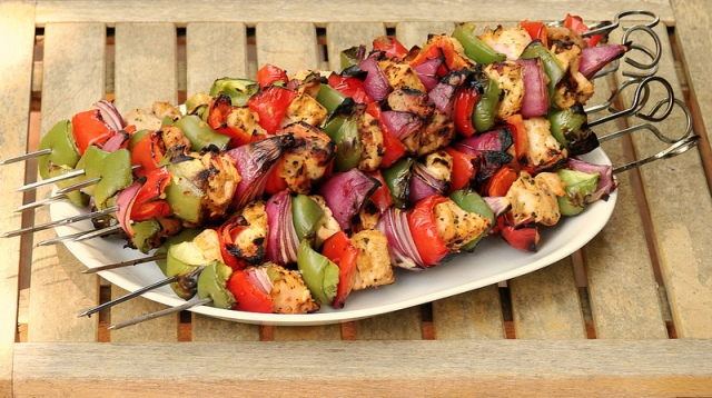 Piri Chicken Kabobs