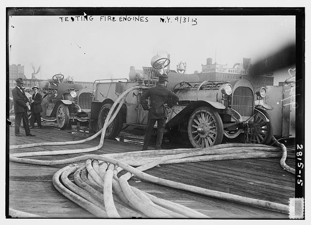 Testing Fire Engines, NY, 1913.