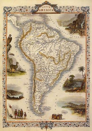 South America, 1800