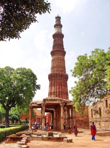 The first Mughal Empire celebrated their conquest with the building of Qutub Minar in Delhi.